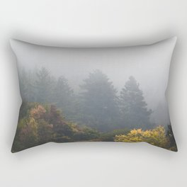 Autumn forest wrapped in fog Rectangular Pillow