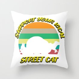 Street Cat Squirrel Raccoon Mader Gift Throw Pillow