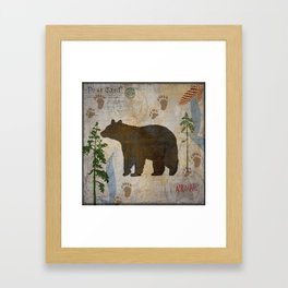 POSTCARD BEAR Framed Art Print