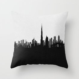 City Skylines: Dubai Throw Pillow