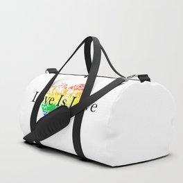 Love Is Love Rainbow Pride Heart 6 Duffle Bag
