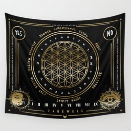 Gold | Higher Dimensional Spirit Board (Ouija)  Wall Tapestry