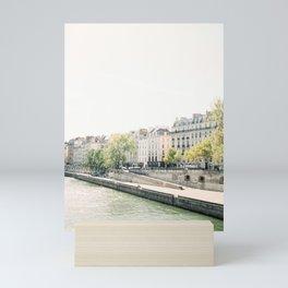 River Seine in Paris, France | Saint Louis, Paris | Travel Photography Mini Art Print