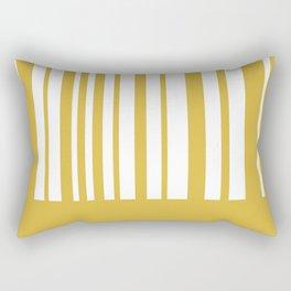 Mustard Yellow and White Half Stripe Minimalist Color Block Pattern Rectangular Pillow