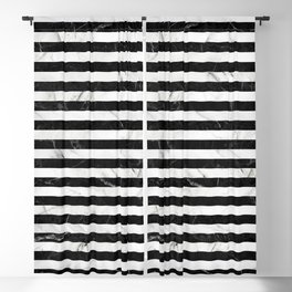 Marble Stripes Pattern - Black and White Blackout Curtain