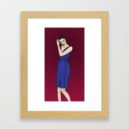 Dressed Up Simmons Framed Art Print