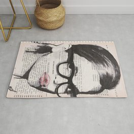 Sole d'autunno - ink drawing Rug