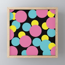 Pattern Formes Ronds Colors Framed Mini Art Print