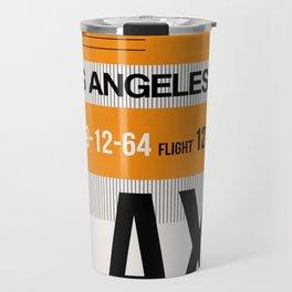 LAX Los Angeles Luggage Tag 2 Travel Mug