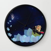 swimming Wall Clocks featuring swimming by HanadaCreations