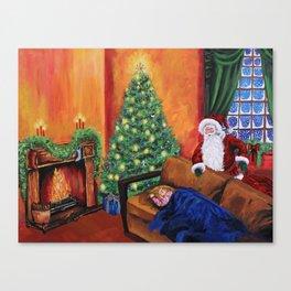 Christmas waiting for Santa Canvas Print