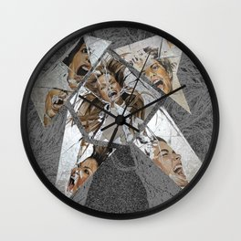 Happiness Shattered Wall Clock