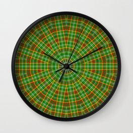 Mandala Green Red Yellow and White Wall Clock