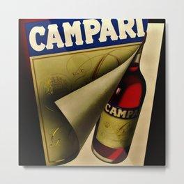 1957 Vintage Bitter Campari Aperitif Advertisement Poster by Carlo Fisanotti Metal Print