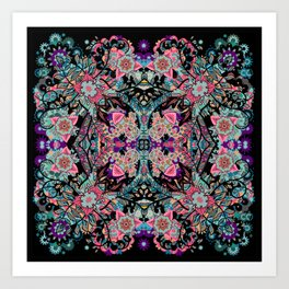Mandala Colorful Boho Art Print