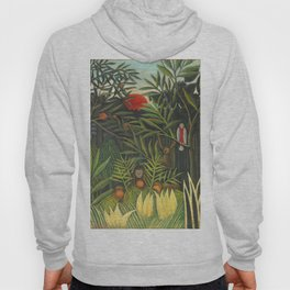 """Henri Rousseau """"Monkeys and Parrot in the Virgin Forest"""" Hoody"""