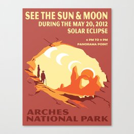 Vintage poster - Arches National Park Canvas Print