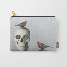 Skull & bird, watercolor Carry-All Pouch