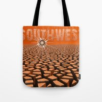 southwest Tote Bags featuring Southwest by Phil Perkins