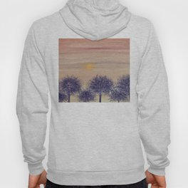 Sunset and trees Hoody
