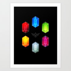 Zelda Just Want Them Rupees Art Print