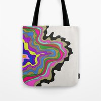 coasters Tote Bags featuring Color Wave by Georgiana Paraschiv