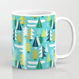 Trees - Xmas Pattern (Blue) Coffee Mug