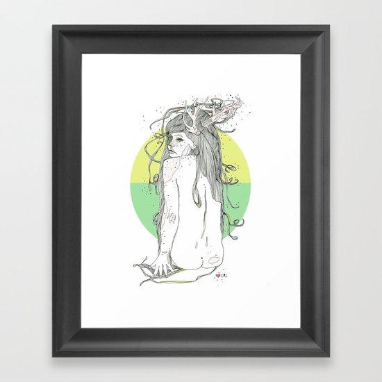 colour blind V Framed Art Print