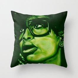 badu?!-green Throw Pillow