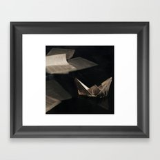Drowning in your words  Framed Art Print