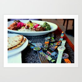 Middle Eastern Swatch Salad Art Print