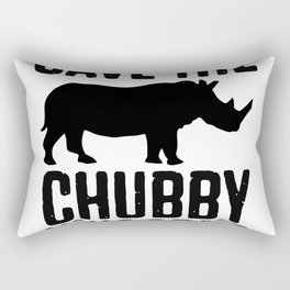 Save The Chubby Unicorns Rectangular Pillow