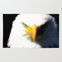 eagle Area & Throw Rugs featuring Eagle by Brian Raggatt