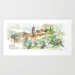Navarrete, Camino de Santiago Art Print