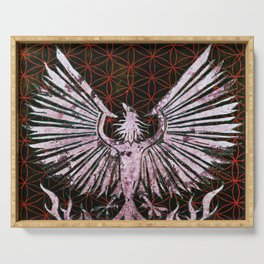 Red Phoenix Serving Tray