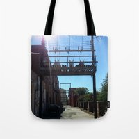 oklahoma Tote Bags featuring Oklahoma Ally by HmmCades