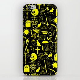 Buffy Symbology, Yellow iPhone Skin