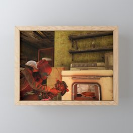 Fallout 76. Thanksgiving day Framed Mini Art Print
