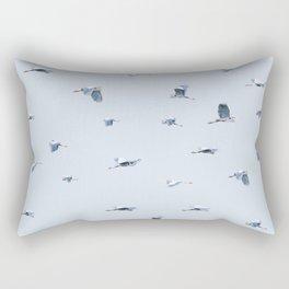 Blue Blue Heron Rectangular Pillow