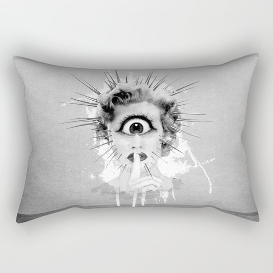 Shhh… Redux Rectangular Pillow