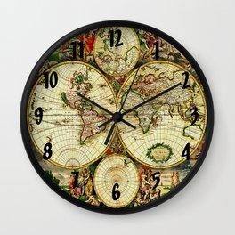 Ancient World Map 1689 Wall Clock