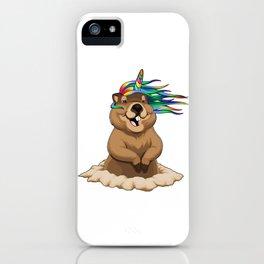 Groundhog Unicorn iPhone Case