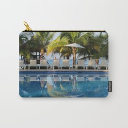 Tropical Ocean Delight, Pool Side View Carry-All Pouch