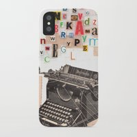 writer iPhone & iPod Cases featuring Paperback Writer by Felicia Dadak