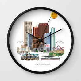 Denver Skyline Wall Clock