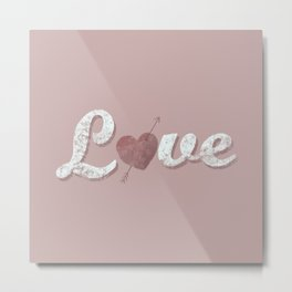 Love = a verb Metal Print