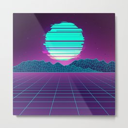 The Future World Synthwave  Metal Print