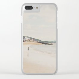 between the showers ... Clear iPhone Case