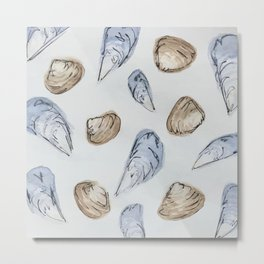 Mussels and Clams Metal Print