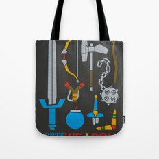 Choose Your Weapon Dark Tote Bag